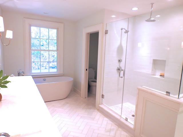 glass shower bench seat white marble toilet closet water closet