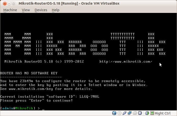 Installing Mikrotik RouterOS under VirtualBox | Abi Paudel's