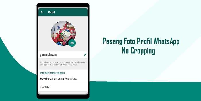 Cara Pasang Foto Profil WhatsApp Secara Utuh Tidak Terpotong