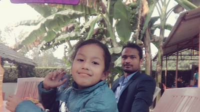 @ Tikapur Park with my Sweet bhanji.