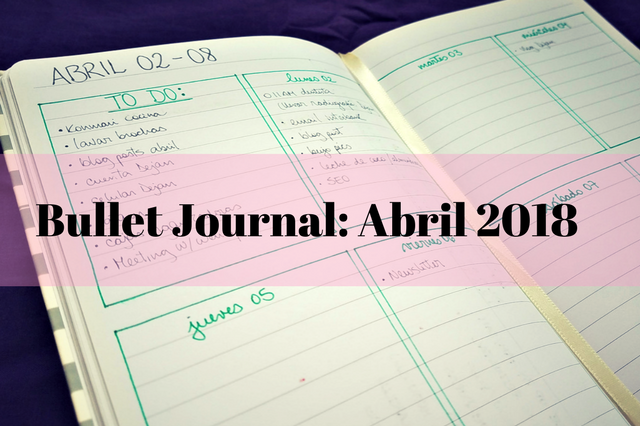 bullet journal planifica abril