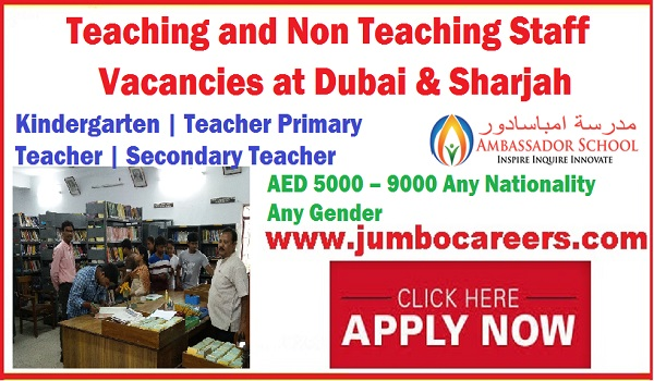 Teaching Staff jobs Dubai Sharjah, Non Teaching Staff jobs UAE