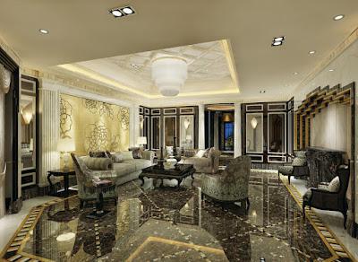 green marble floor design ideas in living room