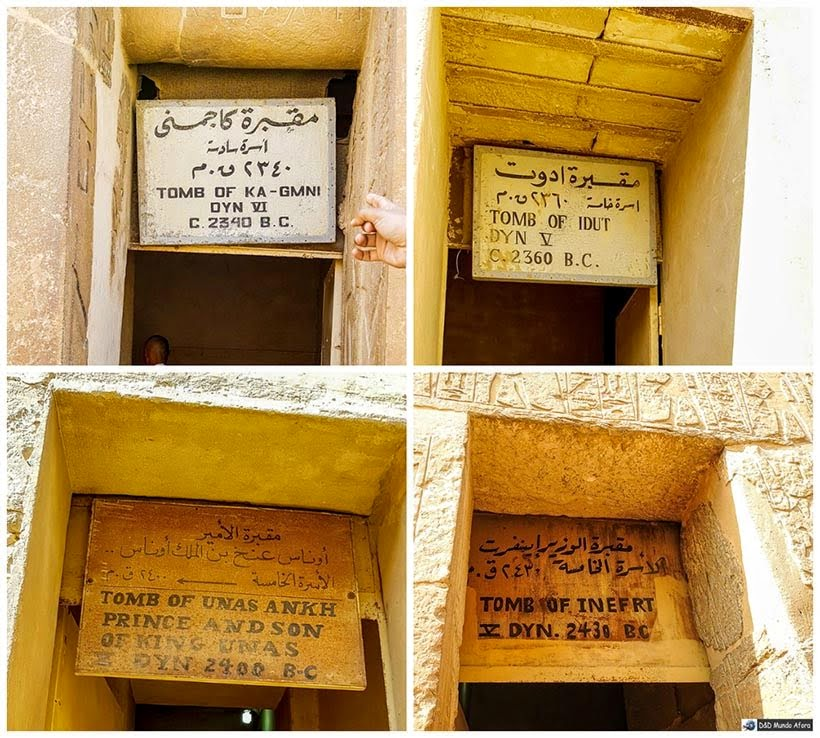 Estruturas funerárias em Saqqara - Diário de Bordo: 2 dias no Cairo