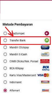 cara melakukan pembayaran di bukalapak lewat media ATM atau transfer bank