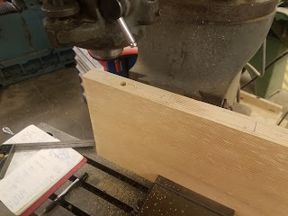 attempting to bore a pocket in a piece of wood using the mill