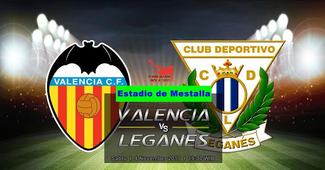 Valencia vs Leganes 4 November 2017
