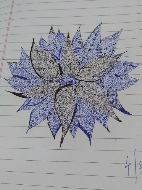 calm mind, Pune , zentangle