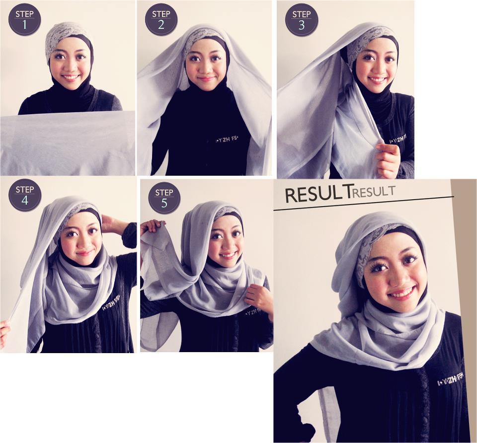 Tutorial Hijab Segi Empat Simple Untuk Kerja Tutorial Hijab Paling