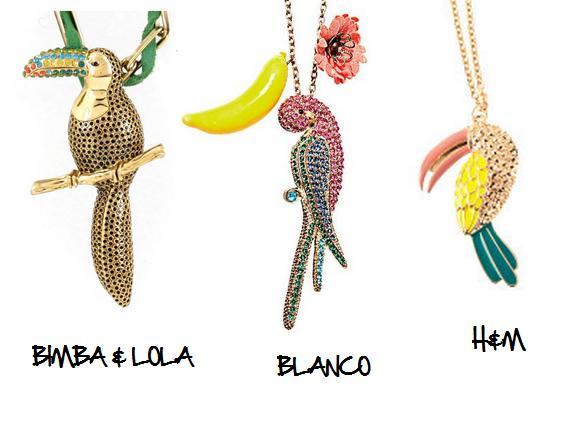 Clones 2011 collares Bimba Blanco H&M