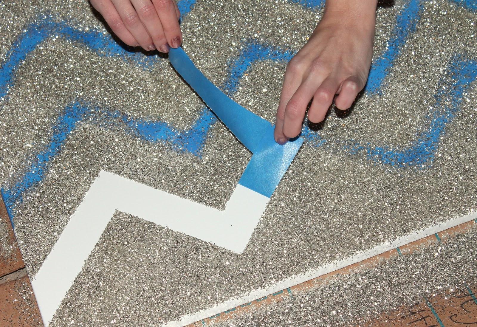 DIY Glitter Chevron Art - Penny Pincher Fashion