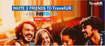 Travelur – Refer and Earn is Back | Refer 5 Friends and Get ₹300 Paytm Cash
