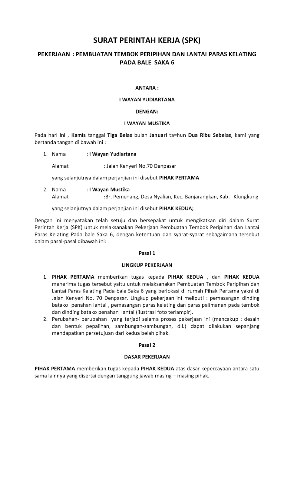 Pengertian Dan Contoh Surat Perintah 2019 Januari 2019 Pendaftaran