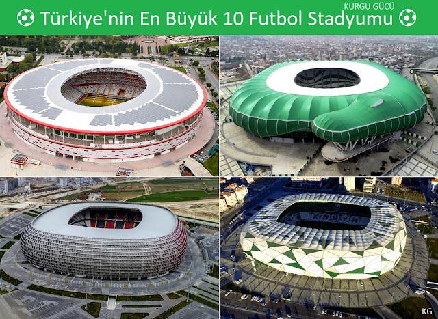 Türkiye'nin En Büyük 10 Futbol Stadyumu - Kurgu Gücü