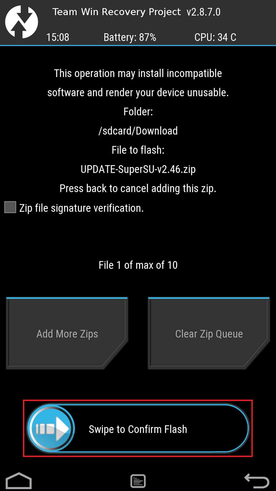 How To Flash Custom Recovery (TWRP/CWM) And UPDATE-SuperSU zip
