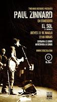 Concierto de Paul Zinnard en Sala El Sol