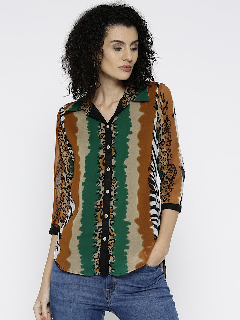 Women Regular Fit 3/4th Sleeves Casual Shirt