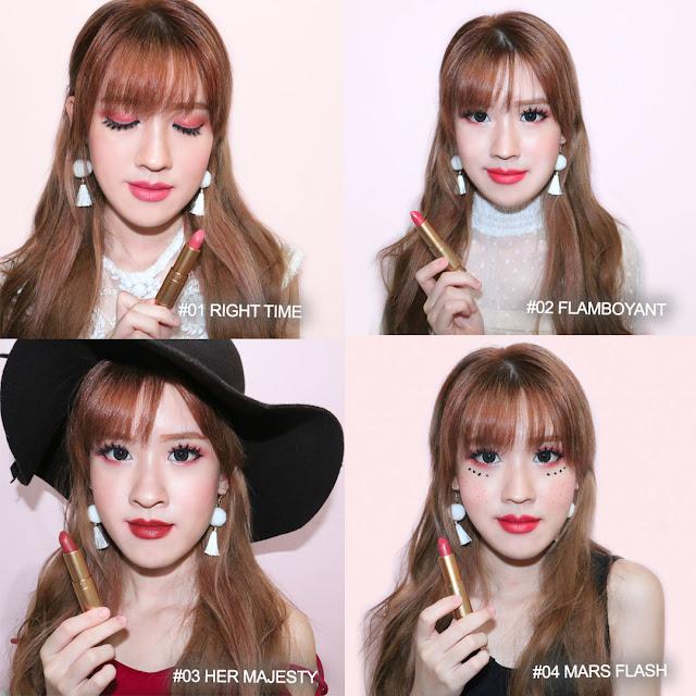 luxcrime lipstick swatches