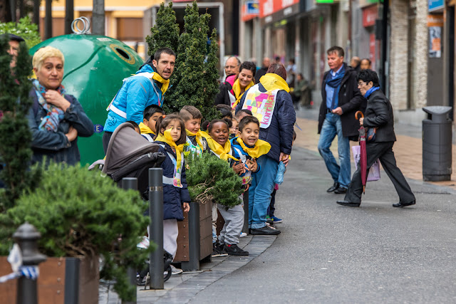 Carrera infantil por el euskera