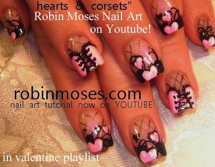 """nail artrobin moses """"rose nails"""" """"rose corset nails"""