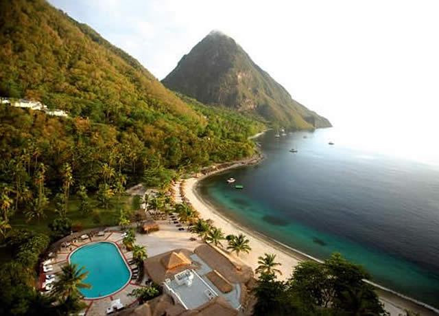 Praia Açucar - Ilha Santa Lucia, Caribe