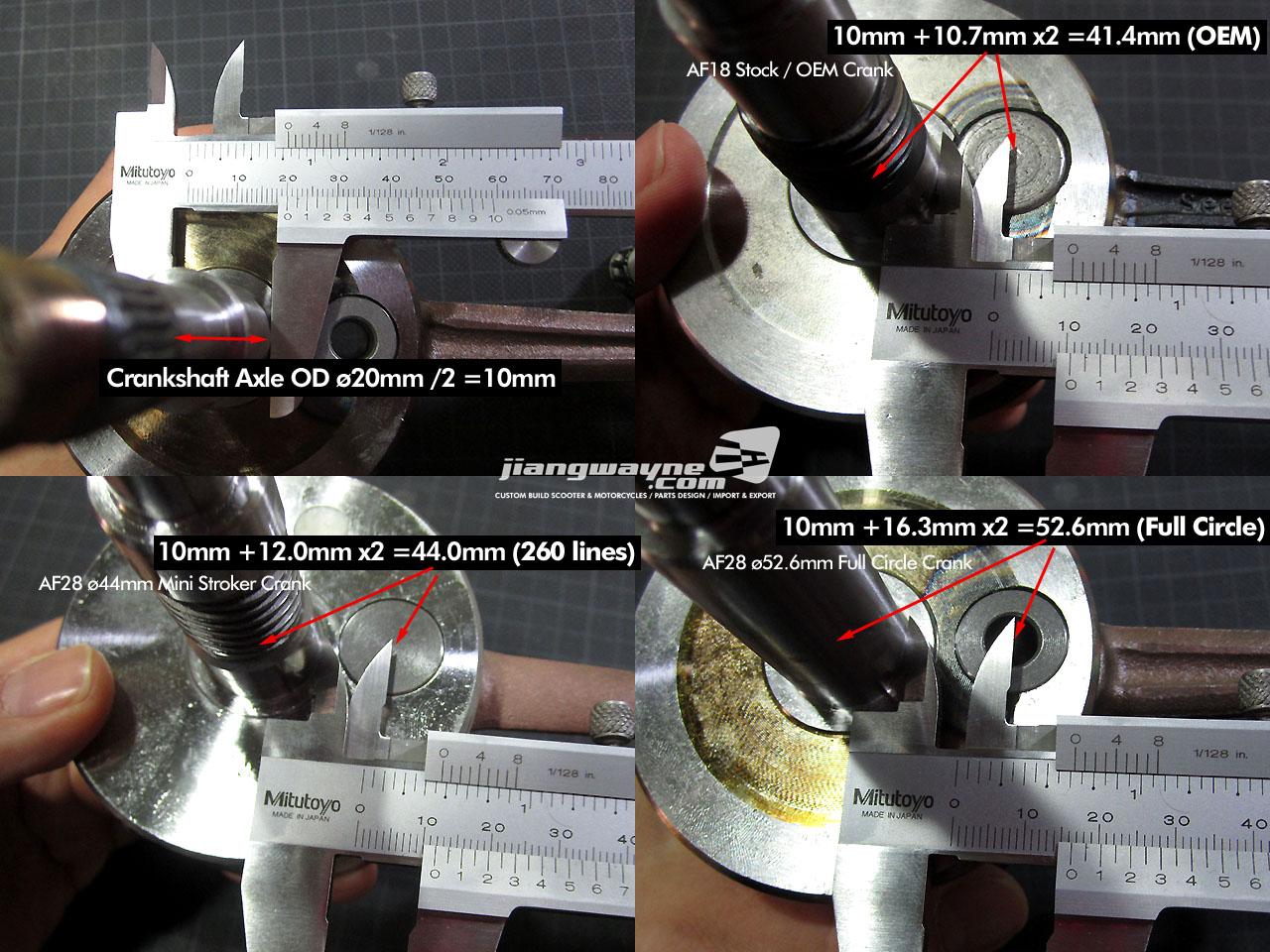 Dio / DD50's 44mm Stroker Crankshaft's Gossips | jiangwayne