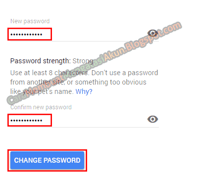 cara mengganti password gmail lewat pc