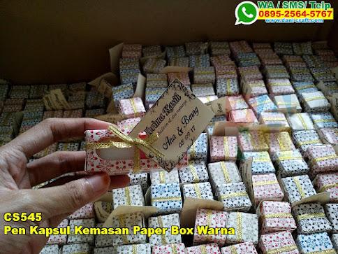 Toko Pen Kapsul Kemasan Paper Box Warna
