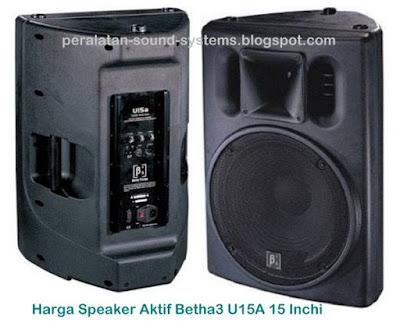 Harga Speaker Aktif Beta 3 U15A 15 Inch