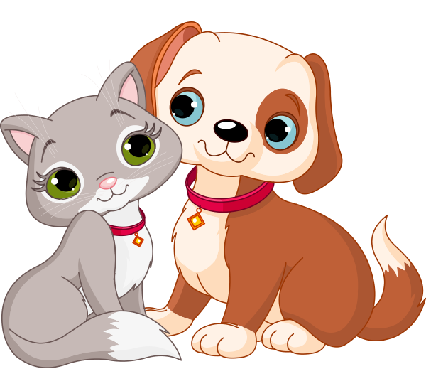 Cute Dog And Cat Clip Art