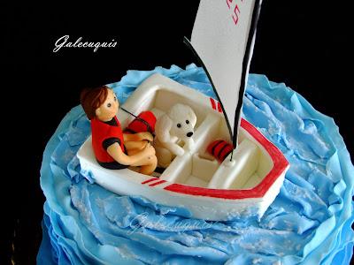 Figura fondant barco vela