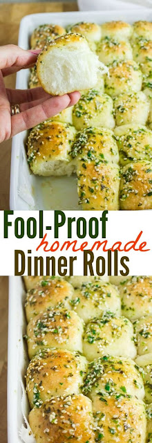 FOOL PROOF HOMEMADE DINNER ROLLS