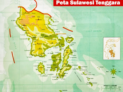 Gambar Peta provinsi Sulawesi Tenggara