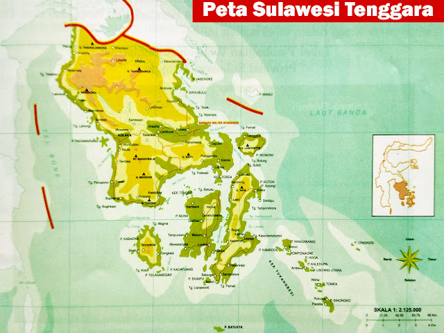 Sulawesi Tenggara yaitu salah satu dari enam provinsi di Pulau Sulawesi Letak Geografis Sulawesi Tenggara