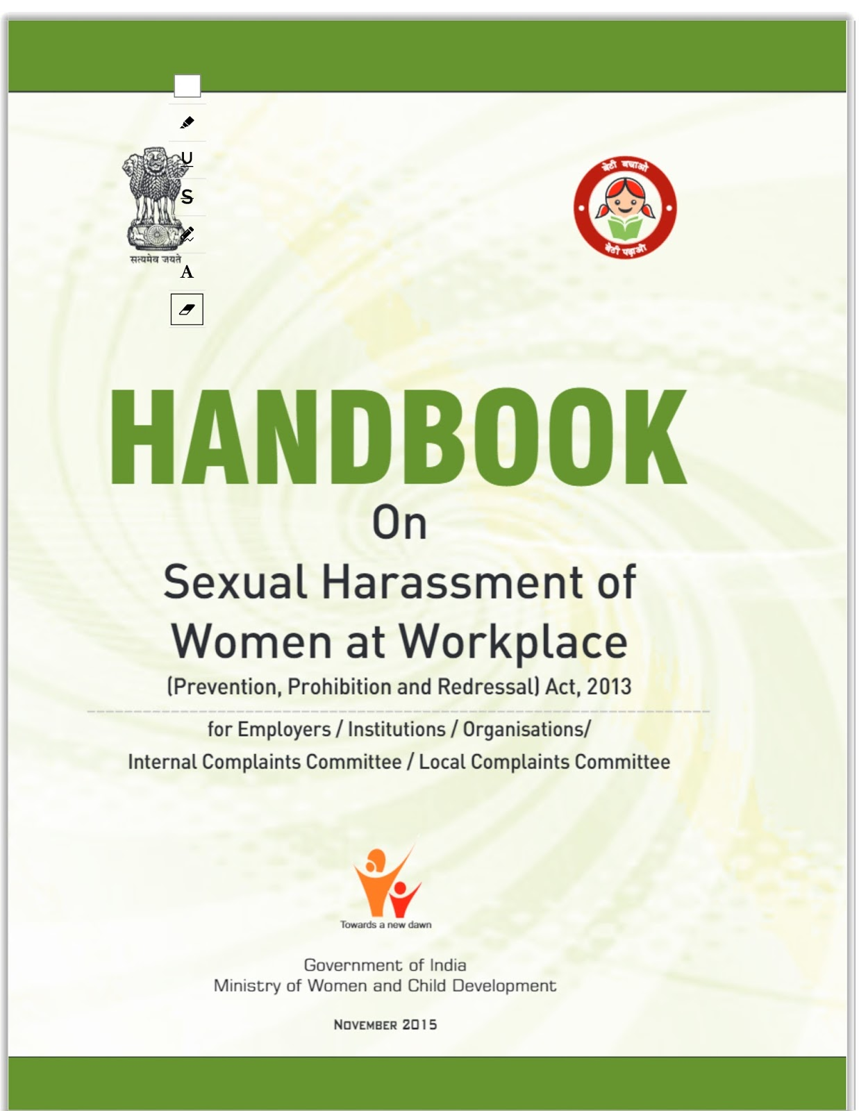 Sexual harassment in india pdf file