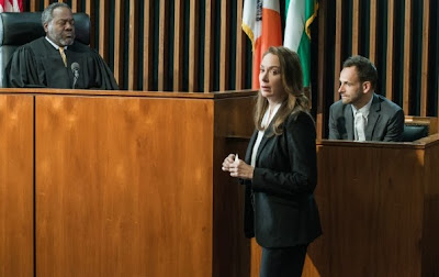 Frankie Faison and Elizabeth Marvel guest star as Judge Brewster O'Hare and Cassandra Walker with Jonny Lee Miller as Sherlock Holmes in CBS Elementary Season 2 Episode 10 Tremors