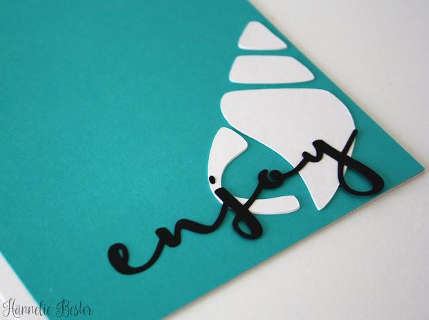 beach inspired greeting card - enjoy