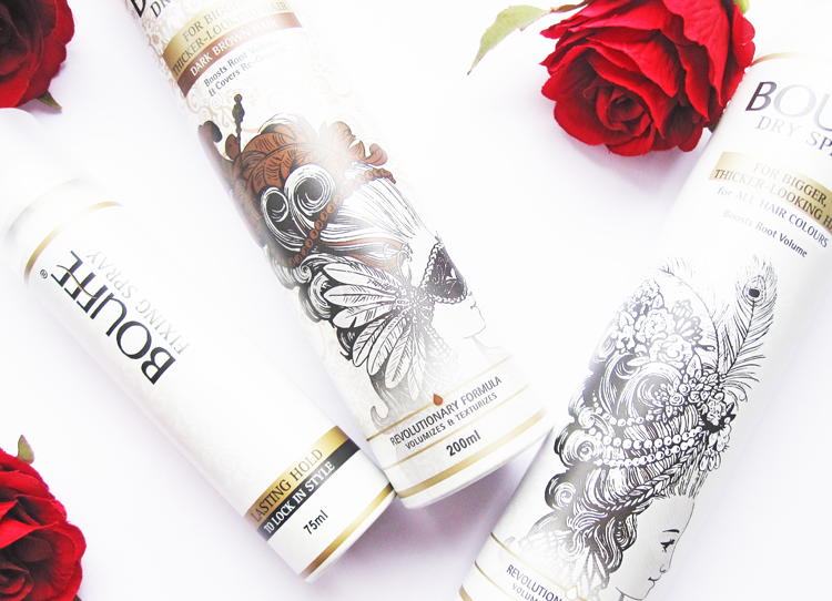 A picture of Bouffe Colourless & Brunette Dry Sprays and Fixing Spray review