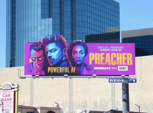 Preacher season 2 special extension cut-out billboard