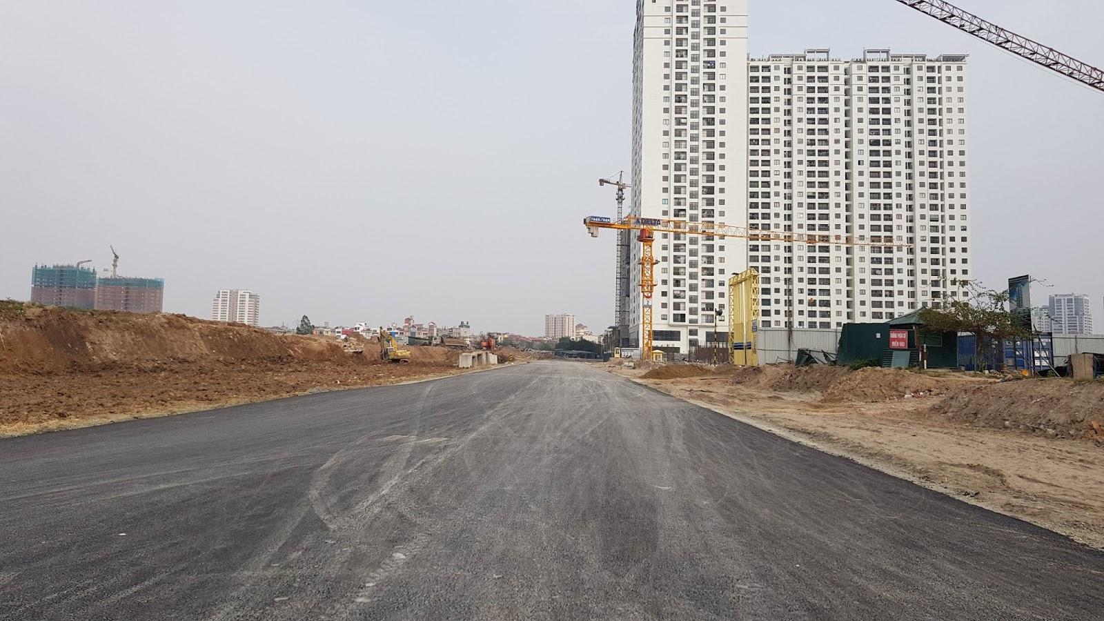 Đường 40m đoạn chạy qua dự án 6th element