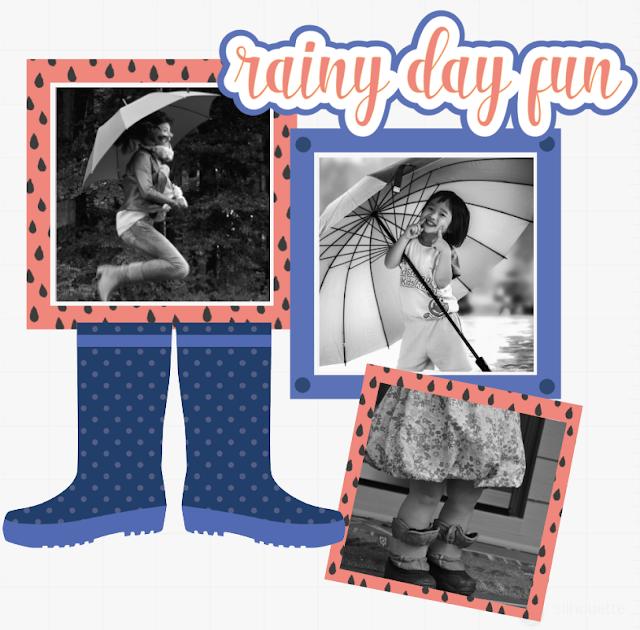 rain boots design file, vector, graphic, svg, studio fie, silhouette cameo