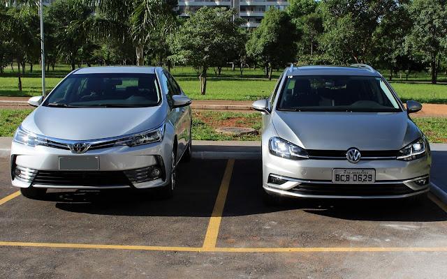 Toyota Corolla 2019 x Volkswagen Golf