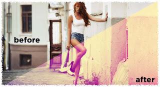 5 Langkah Membuat Efek Pink Vintage Dengan Photoshop