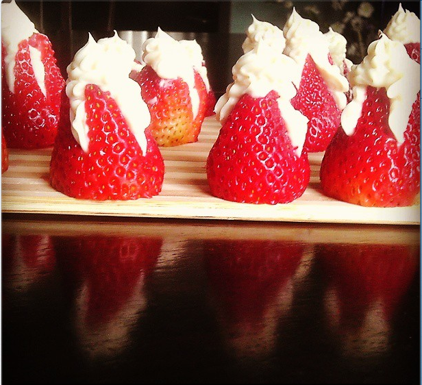 Stuffed Cream Cheese Strawberries