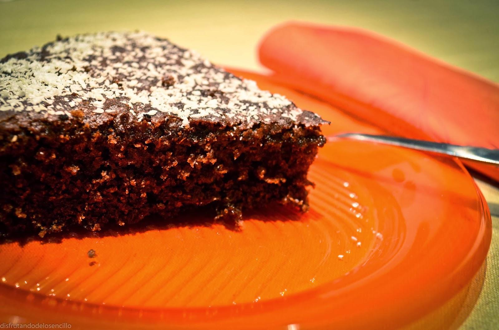 bizcocho de algarroba sin lactosa ni gluten
