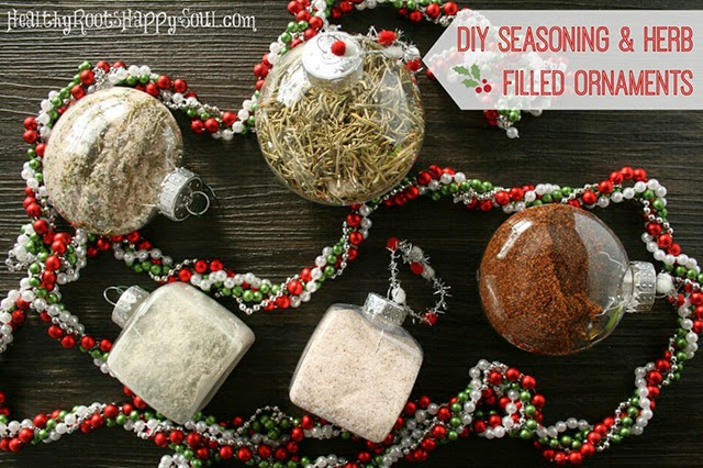 Homemade Christmas Gift Idea: Seasoning & Herb Filled Ornaments