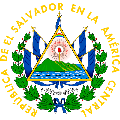 Coat of arms - Flags - Emblem - Logo Gambar Lambang, Simbol, Bendera Negara El Salvador