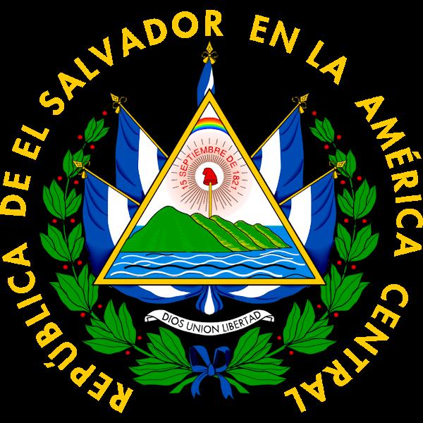 Logo Gambar Lambang Simbol Negara El Salvador PNG JPG ukuran 600 px