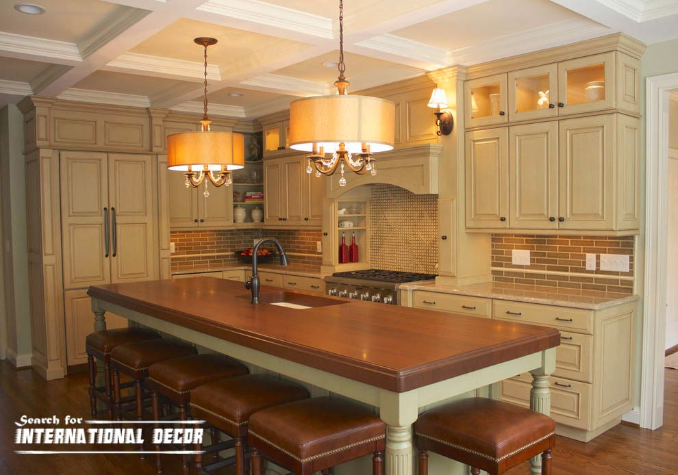 coffered ceiling, molding,kitchen ceiling lighting