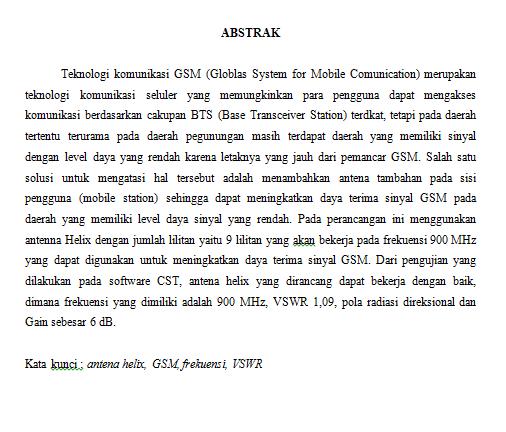 Contoh Abstrak Paper